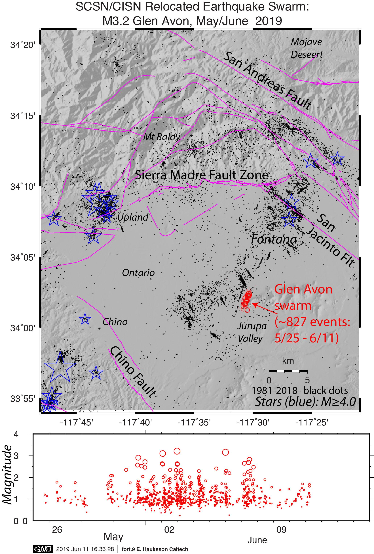 Enjambre de sismos