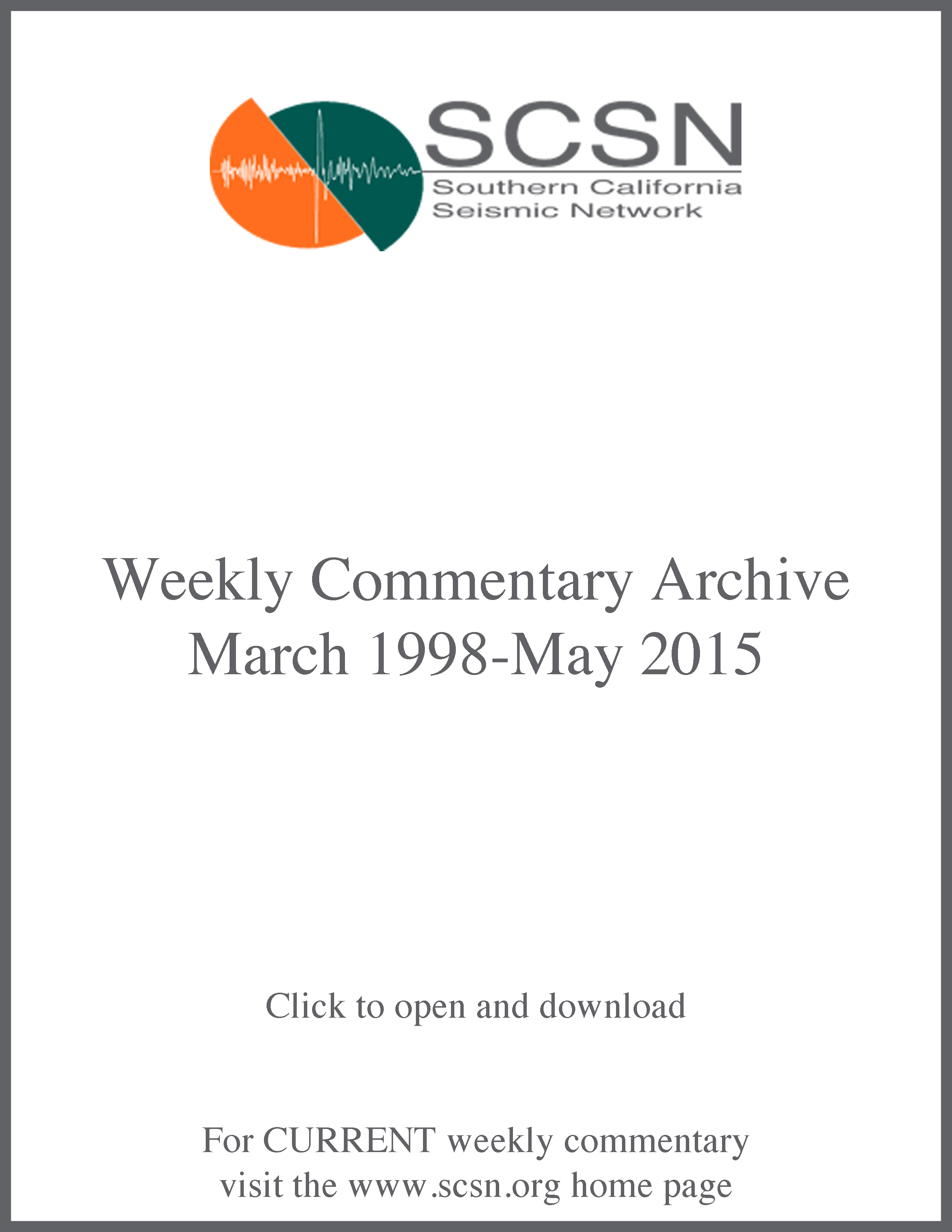 weekly commentary page